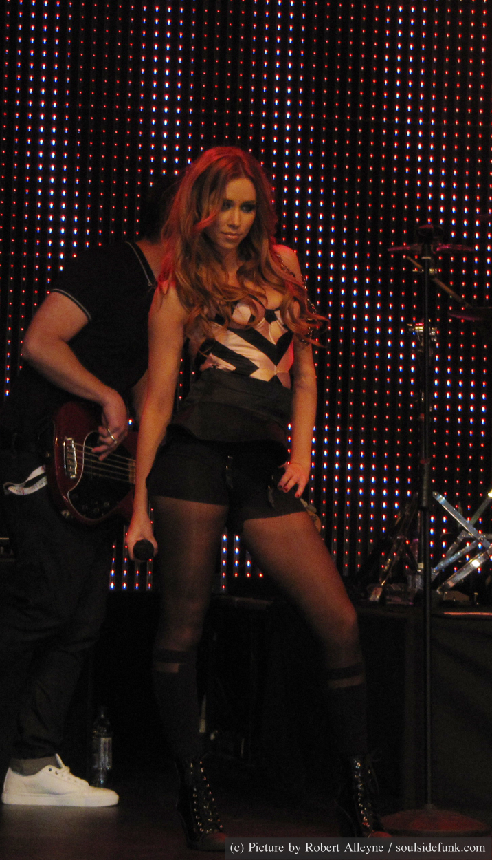 DEC. 7th 2009 - Una Healy performs with The Saturdays at Kentish Town Forum