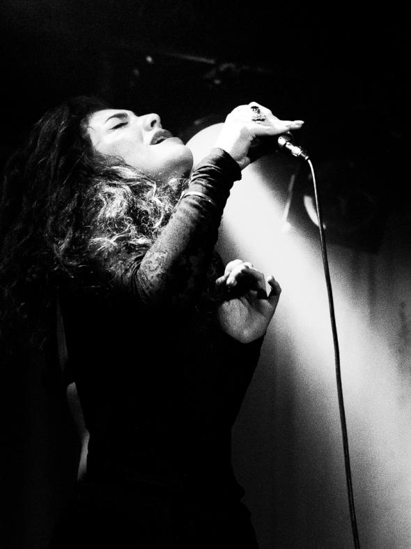 Lorde performs at Madame Jojos, London