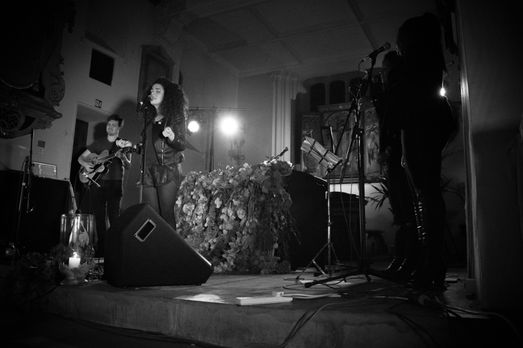Sophie Delilia performs at St Pancras Old Church, London