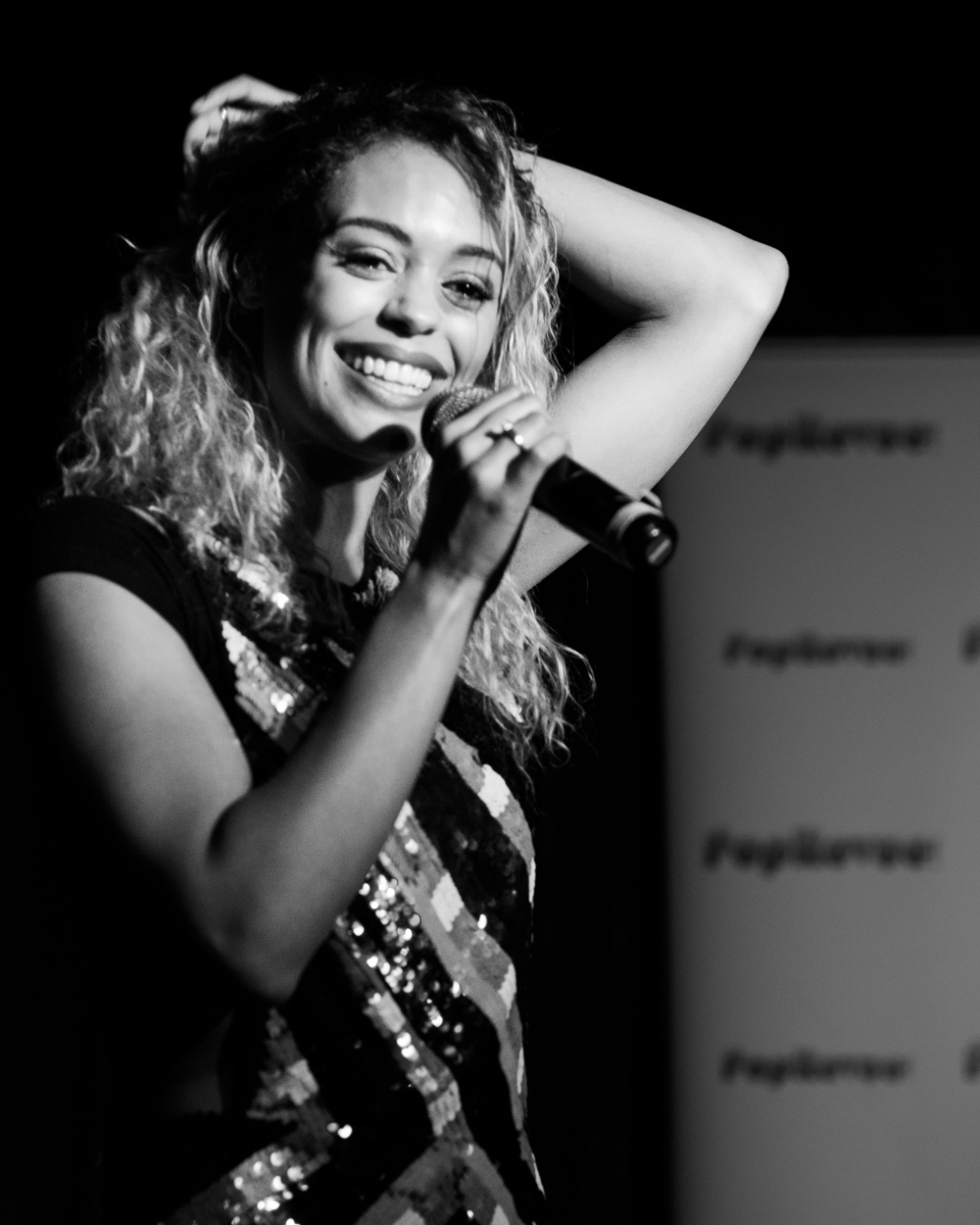 Elizabeth Ajao performs at Pop Revue, London