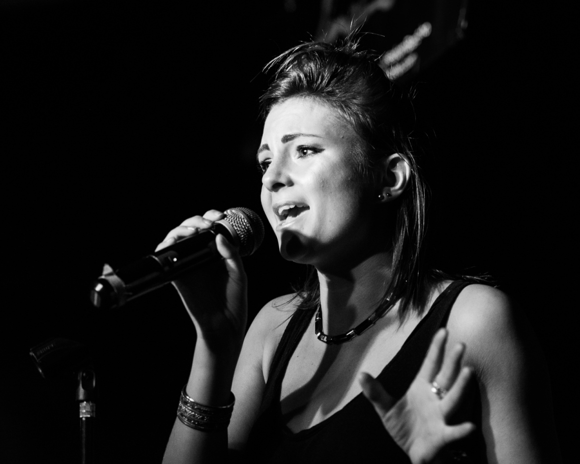Molly Cale performs at Pop Revue, London